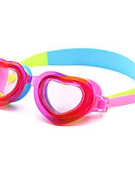 Недорогие -плавательные очки Водонепроницаемость Противо-туманное покрытие силикагель Поликарбонат белый синий фиолетовый красный синий Темно-синий