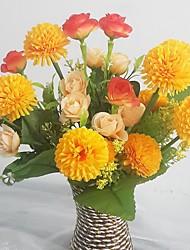 preiswerte -Seide / Kunststoff Rosen / Lila Künstliche Blumen
