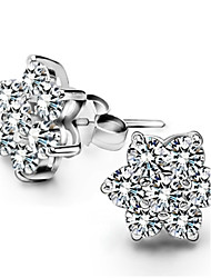 cheap -Women's Star Sterling Silver Zircon Silver Stud Earrings - Birthstones Star For Wedding Party Daily Casual Sports