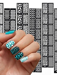 cheap -12PCS Different Styles The New Manicure Sticker Printing Template