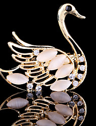 cheap -Women's Brooches - Crystal, Cubic Zirconia Swan, Animal Party, Work, Casual Brooch For Wedding / Party / Special Occasion