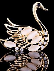 povoljno -Žene Slatko Zabava Posao Ležerne prilike Moda Kristal Kubični Zirconia Legura Labud Sa životinjama Jewelry Za Vjenčanje Party Special