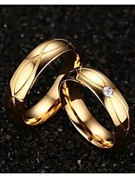cheap -Women's Statement Ring Fashion Titanium Steel Gold Plated Costume Jewelry Wedding Party Daily Casual Sports