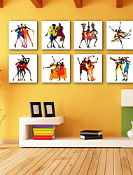 cheap -E-HOME® Stretched Canvas Art  Dancing Women Abstractr Series Decoration Painting MINI SIZE One Pcs