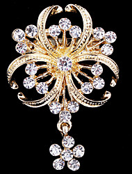 cheap -Women's Brooches - Crystal, Cubic Zirconia Party, Work, Casual Brooch Gold For Wedding / Party / Special Occasion