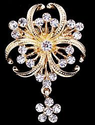 povoljno -Žene Broševi Slatko Zabava Posao Ležerne prilike Moda Kristal Kubični Zirconia Legura Zlato Jewelry Za Vjenčanje Party Special Occasion