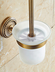 cheap -Toilet Brush Holder Traditional Brass 1 pc - Hotel bath