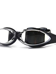 abordables -Gafas de natación Anti vaho Tamaño Ajustable Anti-UV Lente polarizado Impermeable Gel de sílice PC Azul claro Negro Azul Verde Claro Azul