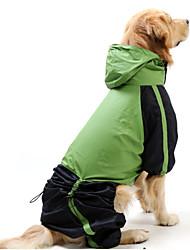 preiswerte -Katze Hund Regenmantel Hundekleidung Wasserdicht Winddicht Einfarbig Rot Grün