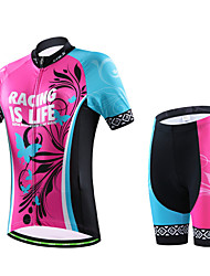 cheji® Cycling Jersey with Shorts Women's Short Sleeves Bike Shorts Sleeves Jersey Clothing Suits Quick Dry Ultraviolet Resistant