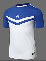 baratos -Homens Camiseta de Trilha Ao ar livre Resistente Raios Ultravioleta Respirável Macio Suavidade Redutor de Suor Materiais Leves Camiseta