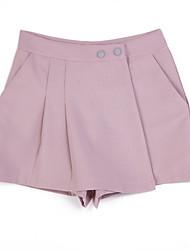 preiswerte -Damen Hohe Hüfthöhe Unelastisch Jeans Hose,Polyester Sommer Solide