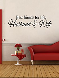 cheap -Best Friends For Life Husband And Wife Wall Sticker Art Quote Home Decor Adesivo Parede Bedroom Stickers  Decoration