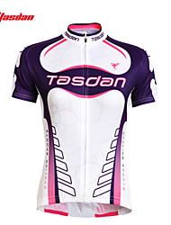 Недорогие -TASDAN Жен. С короткими рукавами Велокофты Большие размеры Велоспорт Джерси Верхняя часть Наборы одежды, Дышащий Быстровысыхающий Ультрафиолетовая устойчивость 100% полиэстер / Эластичная