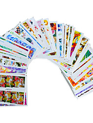 50sheets  Mixed Cartoon Flower  Animal Human PictureNail Art DIY  Design Water Transfer Sticker  Beautiful  STZ Comics50