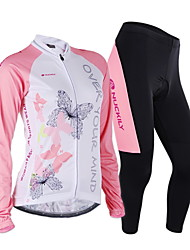 Nuckily Cycling Jersey with Tights Women's Long Sleeves Bike Jersey Clothing Suits Windproof Anatomic Design Moisture Permeability Front