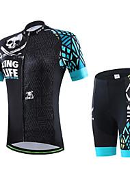 Maglia con pantaloncini da ciclismo Per uomo Per donna Unisex Manica corta Bicicletta T-shirt Pantaloncini /Cosciali
