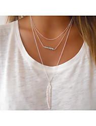 cheap -Women's Crystal Pendant Necklace - Fashion Simple Style European Beaded Silver Golden Necklace For Party Daily Casual