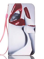 billiga -fodral Till Samsung Galaxy Samsung Galaxy S7 Edge Plånbok / Korthållare / med stativ Fodral Sexig kvinna PU läder för S7 edge / S7