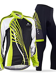 Nuckily Maglia con pantaloni da ciclismo Per donna Manica lunga Bicicletta Maglietta/Maglia Set di vestiti Asciugatura rapida Antivento