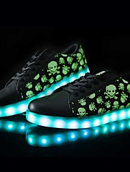 LED Light Up Shoes, Women's Shoes USB charging Synthetic Fashion Sneakers Athletic/Casual Black