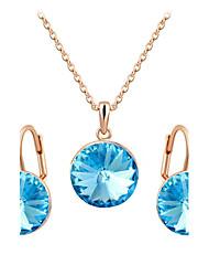 povoljno -Žene Kristal Imitacija dijamanta Nakit Set Füllbevalók Ogrlice - Luksuz Vintage Slatko Zabava Posao Ležerne prilike Moda Plava Pink