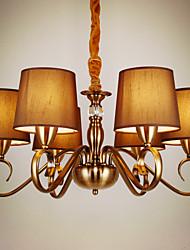 baratos -6-luz Lustres Luz Ambiente - Estilo Mini, 220-240V, Branco Quente / Branco, Lâmpada Incluída / 20-30㎡ / E12 / E14
