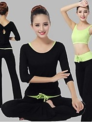 cheap -Yoga Suit Sports Causal Running Clothing Fitness Clothes Yoga Wear Gear Suits = Vest +Half Sleeve Top + Long Trousers