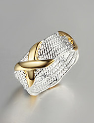Ring Fashion Party Jewelry Brass / Gold Plated Women Band Rings 1pc,One Size Gold