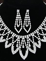 Women's Shiny Luxury Rhinestone Bridal Sets Bridal Accessories  Necklace Earrings Set Wedding Party Gift