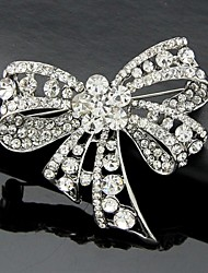 cheap -Women's Brooches - Crystal, Cubic Zirconia Bowknot Work, Fashion, Cute Brooch Silver For Wedding / Party / Special Occasion