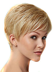New European Lady Blonde color Short Curly Synthetic Hair Wig