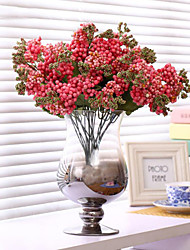abordables -bébé fleurs à couper le souffle de soie fleur de soie fleurs artificielles rose foncé pour la décoration maison 1pc / set