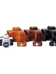 dengpin® PU cuoio della macchina fotografica copertura della cassa borsa con tracolla per Olympus E-M10 Mark II EM10 mark2 (colori assortiti)