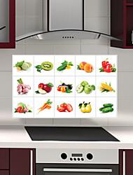 cozinha removível oilproof adesivos de parede com decalques resistentes casa água de vegetais e frutas estilo de arte
