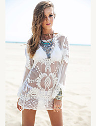 cheap -Women's Cover-Up - Solid Colored, Lace