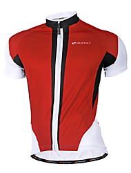 Nuckily Maglia da ciclismo Per uomo Manica corta Bicicletta Maglietta/Maglia Top Asciugatura rapida Design anatomico Permeabile