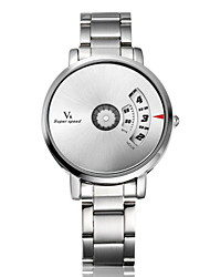 cheap -V6 Men's Quartz Wrist Watch Hot Sale Stainless Steel Band Charm Unique Creative Watch Silver
