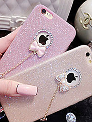 cheap -Case For Apple iPhone X iPhone 8 iPhone 5 Case iPhone 6 iPhone 6 Plus iPhone 7 Plus iPhone 7 Rhinestone Back Cover Glitter Shine Soft TPU