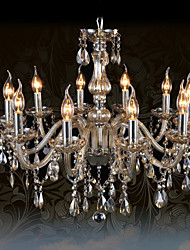 cheap -Ecolight™ 110V OR 220V 10Lights Luxury Crystal Chandelier/Cognac Color/K9 Crystal Chandeliers Living Room / Bedroom