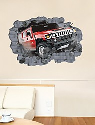 Supply Super Big Large 3D Car Wall Sticker Walls Wallpaper Rolls Wall Papers Home Bedroom Decor 70*100Cm