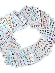 cheap -50sheets  Mixed Flower 50Styles Water Transfer Sticker Nail Art Beautiful DIY XF1151-1120