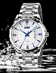 SKMEI Men's Japan PC Stainless Steel  Band Quartz Analog Calendar 30M Water Resistant Dress Watch Cool Watch Unique Watch