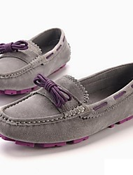Women's Boat Shoes Spring Fall Comfort Nappa Leather Office & Career Party & Evening Athletic Dress Casual Flat Heel Lace-upLight Brown
