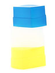 nouveau silicium éclair souple rebond diffuseur soft box blanc + jaune + bleu pour canon 430EX / 430EX ii