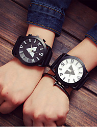 cheap -Men's Women's Couple's Fashion Watch Sport Watch Quartz Casual Watch Silicone Band Charm Multi-Colored