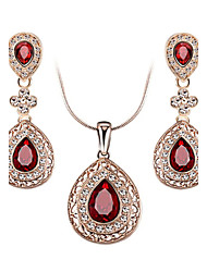 cheap -Women's Crystal Cubic Zirconia Austria Crystal Jewelry Set Include Earrings Necklaces - Luxury Vintage Cute Party Work Casual Love