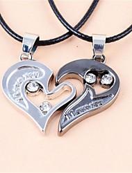 Недорогие -Муж. Жен. форма Ожерелья с подвесками Кожа Ожерелья с подвесками Свадьба Для вечеринок Бижутерия