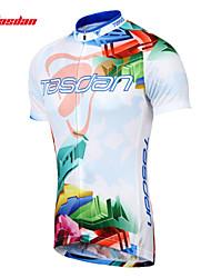 Недорогие -TASDAN Муж. С короткими рукавами Велокофты Велоспорт Джерси / Наборы одежды, Быстровысыхающий, Дышащий, Впитывает пот и влагу