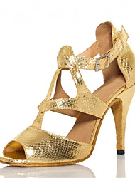 Women's Latin Ballroom Salsa Dance Shoes Gold